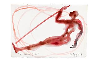 Le Repos du guerrier by Barthélémy Toguo contemporary artwork