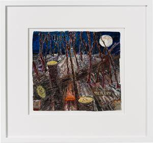 orange mercury by Fiona Hall contemporary artwork painting