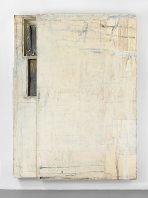 Untitled (slip painting) by Lawrence Carroll contemporary artwork