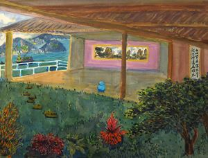 View from a Garden by TC Lai contemporary artwork