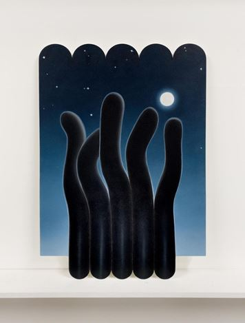 Adrian Hobbs, Night Stand (2020). Oil on MDF. Courtesy Gallery 9, Sydney.