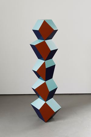 Five Form Stack: Blinky Copper by Angela Bulloch contemporary artwork