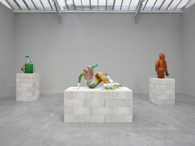 Exhibition view: Andra Ursuţa,Void Fill, David Zwirner, Paris (4 September–9 October 2021). Courtesy David Zwirner.