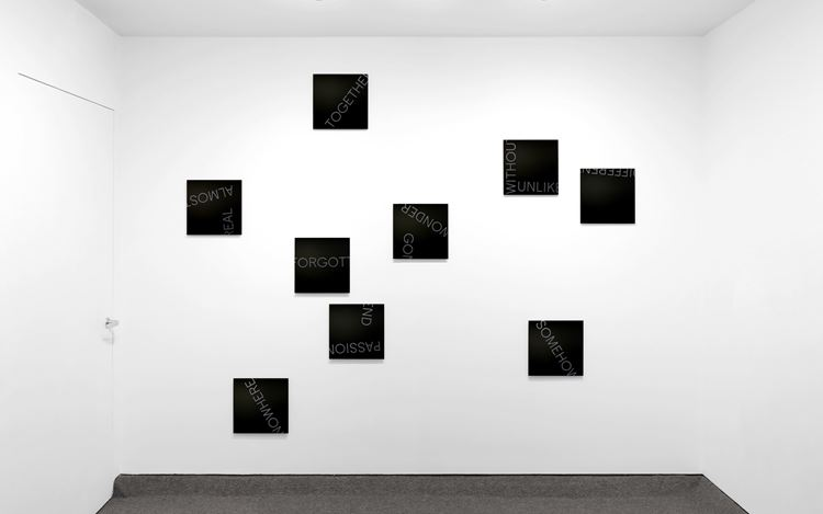 Exhibition view: Robert Barry,One Wall, One Work: Robert Barry, Krakow Witkin Gallery, Boston (21 September–2 November 2019). Courtesy Krakow Witkin Gallery.