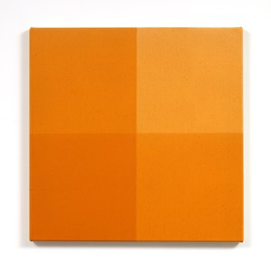A Whole and Two Halves (yellow ochre) by Simon Morris contemporary artwork