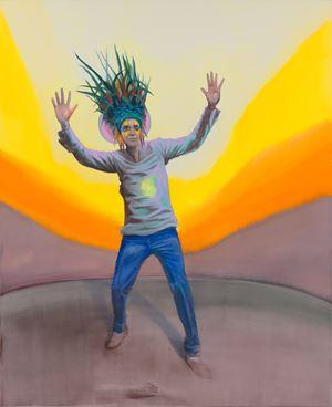 Answering the Sun by Romain Bernini contemporary artwork