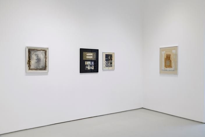 Exhibition view: Rachel Rosenthal, Thanks: Collage Works from the 1970s,Roberts Projects, Los Angeles (24 October–12 December 2020). Courtesy Roberts Projects.