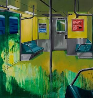 Subway Interior by Chris Daze Ellis contemporary artwork