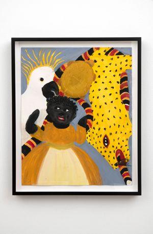 Black Doll w/ Critters by Betye Saar contemporary artwork painting