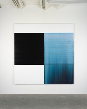 Exposed Painting Delft Blue by Callum Innes contemporary artwork