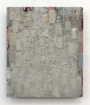 light gray blue red orange gray by Peter Tollens contemporary artwork