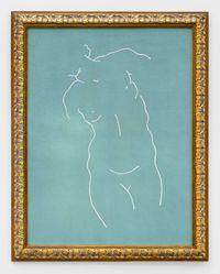 Figure (green) 人物 (绿色) by Zhou Tiehai contemporary artwork painting