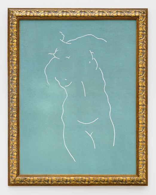 Figure (green) 人物 (绿色) by Zhou Tiehai contemporary artwork