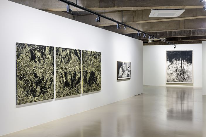 Installation view of 'Cygnus Loop' at Gallery Baton, Seoul, 2019. courtesy of Gallery Baton, photo by Jeon Byung Cheol.
