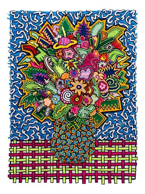 Memphis bouquet by Jody Paulsen contemporary artwork