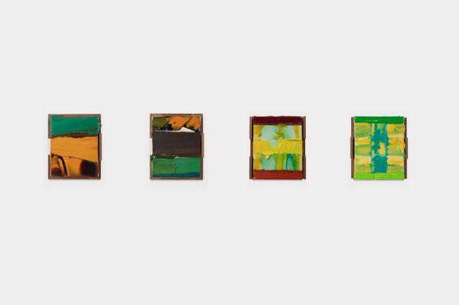Nyame/空はなんでもみているさ Asase Ya/河を産めば畑をうるおすさ Antaninaomby/Ataokoloinona (Water a Strange Thing) 水のヘンテコなもの Kilimanjaro/Wakonyingo(Bring negative spirits)カラッポのたましいを運ぶ, by Kenjiro Okazaki contemporary artwork