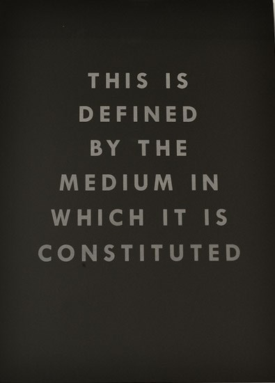 This Is Defined By The Medium In Which It Is Constituted by Mary-Louise Browne contemporary artwork