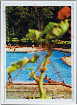 Nine Swimming Pools Behind Broken Glass #9 by Tanja Lažetić contemporary artwork