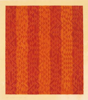Study in Red Stripes by Anni Albers contemporary artwork