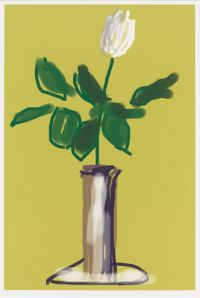 White Rose by David Hockney contemporary artwork works on paper