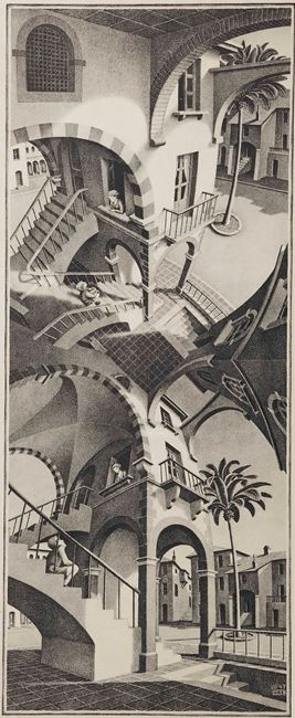 Up and Down by M.C. Escher contemporary artwork