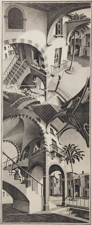 Up and Down by M.C. Escher contemporary artwork print