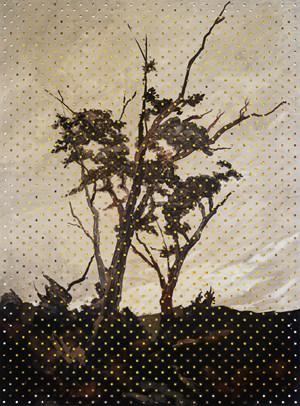 Van der Velden on Cadmium White by Derek Cowie contemporary artwork