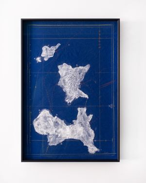 The Sea Rises and Totally Still III. 15 by Rain Wu contemporary artwork drawing, mixed media
