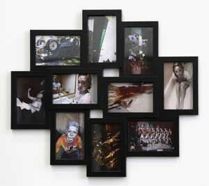 Photo Cluster (black) by Sanjay Theodore contemporary artwork