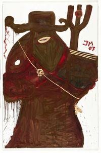 Don Panzerfaust mit Feengesichtchen (gräuliche Diamantin - die Zahnvölkische) by Jonathan Meese contemporary artwork painting