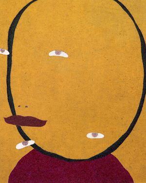 Laughing away, Marching upside down by Nobuko Watabiki contemporary artwork