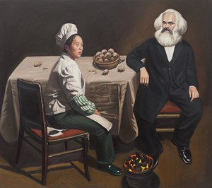 The Potato Eaters by Qin Qi contemporary artwork