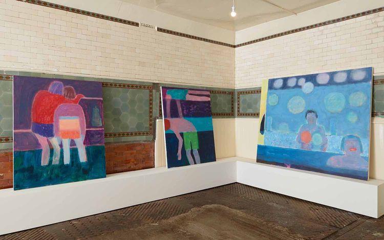 Exhibition view: Katherine Bradford, Campoli Presti, London (3–20 June 2021). Courtesy Campoli Presti.