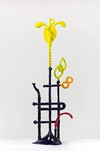 Biomorph sulphur daisy by Caroline Rothwell contemporary artwork sculpture