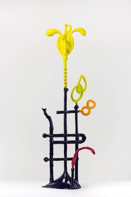 Biomorph sulphur daisy by Caroline Rothwell contemporary artwork