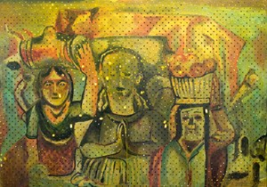 Hodgkins on Cadmium White (Spanish Shrine, 1933-35) by Derek Cowie contemporary artwork