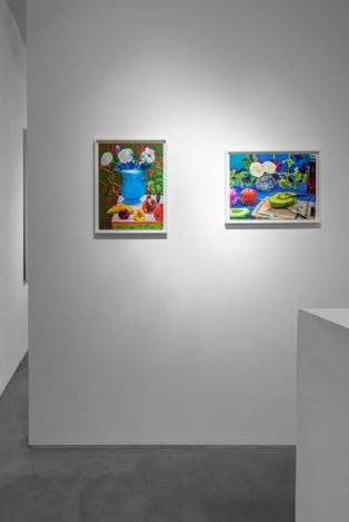 Exhibition view: Daniel Gordon, Green Apples and Boots, Huxley-Parlour, London (30 March–1 May 2021).Courtesy Huxley-Parlour.