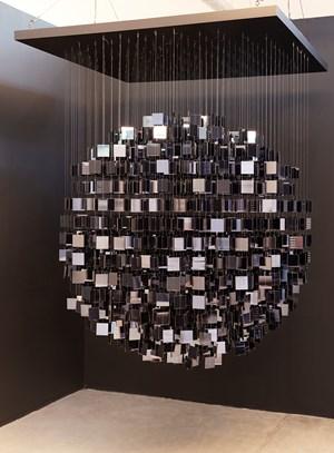 Sphère Miroir Noir by Julio Le Parc contemporary artwork
