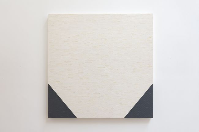 White/Grey Pyramid/Wall by Michael Wilkinson contemporary artwork