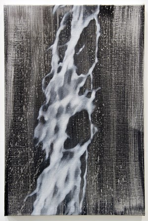 Silver spill by Andrew Browne contemporary artwork