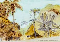 Postcards from Africa: Banana and palm trees, Senegal by Sue Williamson contemporary artwork works on paper