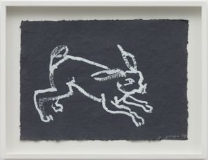Rabbit, Reading Dante by Joan Jonas contemporary artwork works on paper, drawing