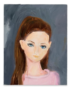 Tiffany on the way to ballet class in January by Karen Kilimnik contemporary artwork