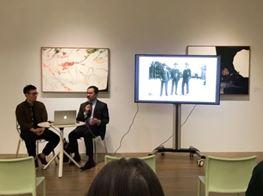 Chou Tai-Chun in conversation with curator Nobuo Takamori