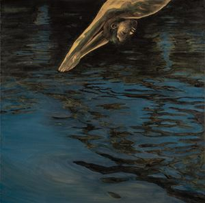 Night Swimming by Andrew Kayser contemporary artwork