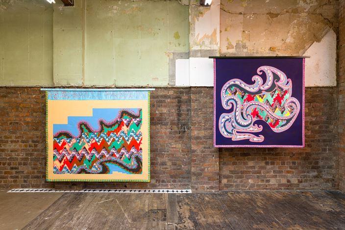 Exhibition view:Lisa Alvarado, Scab Diagram, The Modern Institute, Aird's Lane, Glasgow (26 February–31 March 2021). Courtesy the Artist and The Modern Institute/Toby Webster Ltd, Glasgow. Photo: Patrick Jameson.