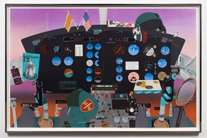 Concerning Vietnam: Bell UH-1D Iroquois, Cockpit (III) by Matthew Brannon contemporary artwork