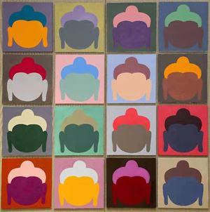 Buddha Heads by Wong Shun Kit contemporary artwork