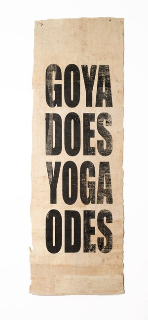 Untitled (GOYA/DOES/YOGA/ODES) by Newell Harry contemporary artwork