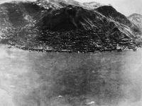 Jan 16, 1945, Attack on Victoria Harbour, Hong Kong Island by Ma Yujiang contemporary artwork photography